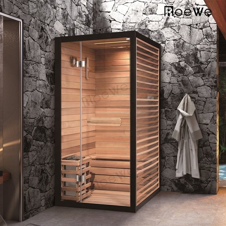 glass one person sauna steam room, modern style stove dry steam room sauna box, indoor dry sauna rooms