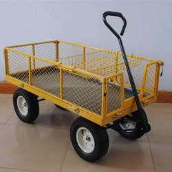 heavy duty four wheel garden trolley