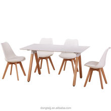 High quality white base dining table room furniture dining set modern