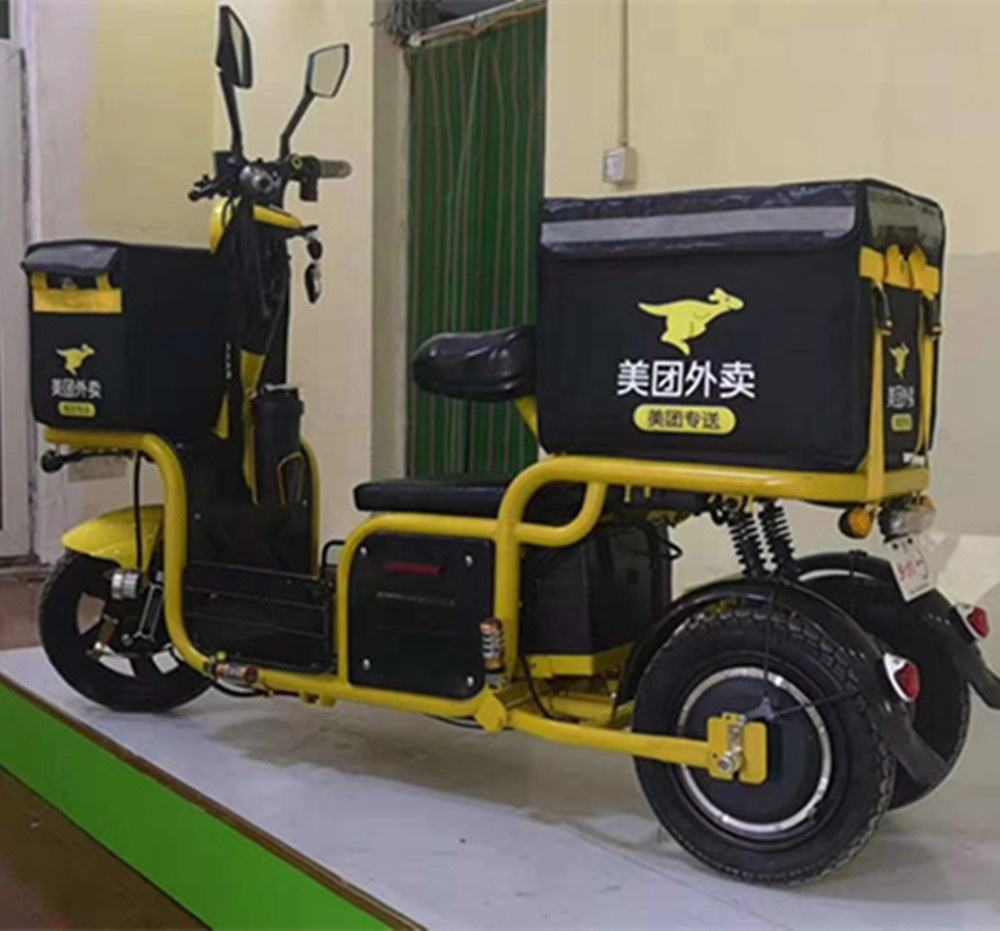 Wholesale takeaway car delivery dining car three-wheeled electric delivery car