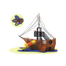 Approved school newest kids outdoor playground Pirate ship wooden playsets