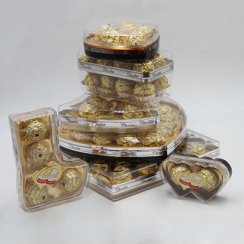 Celebrate & gift 500g 5pcs Square Shape dairy compound peanut chocolate