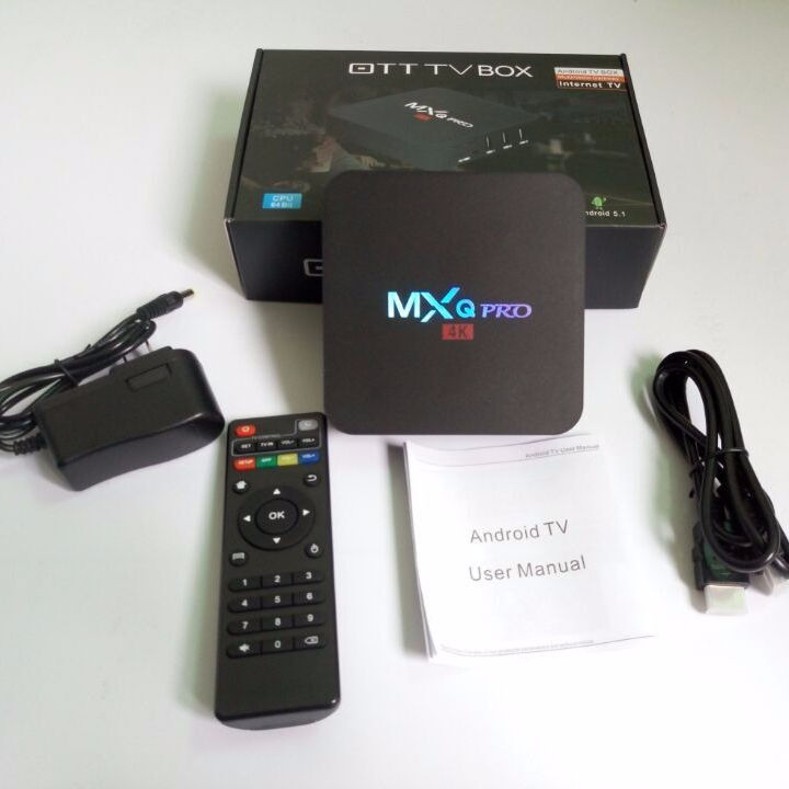 MX Q pro android 7.1 tv box amlogic s905w quad core 1gb 8gb 4k hd full chipset android set top box