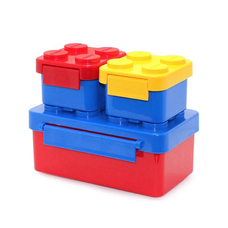 Hot Wholesale PP Lego Building Blocks kids thermos lunch box