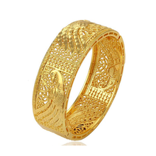 51349 Hot Sale Luxury 24k Gold Printed Peacock Bangle Bracelet