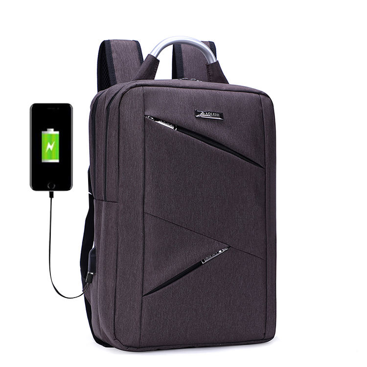 customizable high end unisex waterproof usb port ajustable shoulder strap business backpack bag for hiking