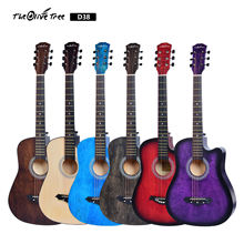 Musical instruments Wholesaler price OEM colorful 38inch acpustic guitar set made of China guitar factory