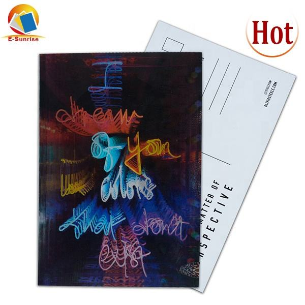 High Quality 3D Lenticualar Anniversary Postcard Gift Customized Wholesales Factory