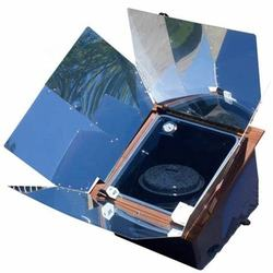 folded solar oven for baking