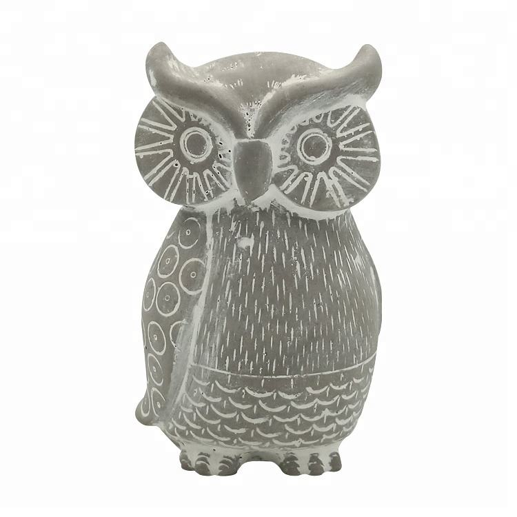 Custom mini animal concrete sculpture art owl sculpture owl statue