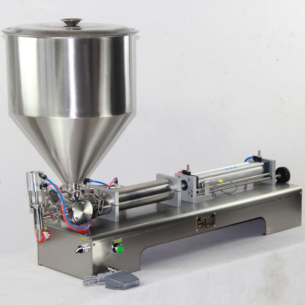 semi-automatic two heads pasta filling machine for bottles