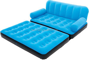 5 in 1 Best Way Velvet Air Sofa Cum Bed inflatable Recliner air Lounger sofa bed