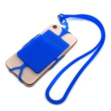 Silicone lanyard cell phone case neck strap card holder