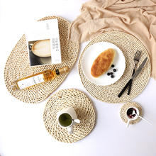 Round shape placemats 100% handmade bamboo place mat