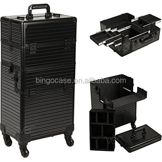2-in-1 Hair Stylist Organizer Makeup Rolling Case