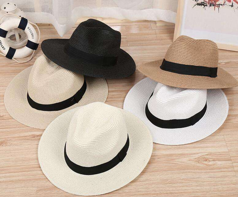 Fresh Spring cheap western woven summer Lady paper fedora Straw Hat styles