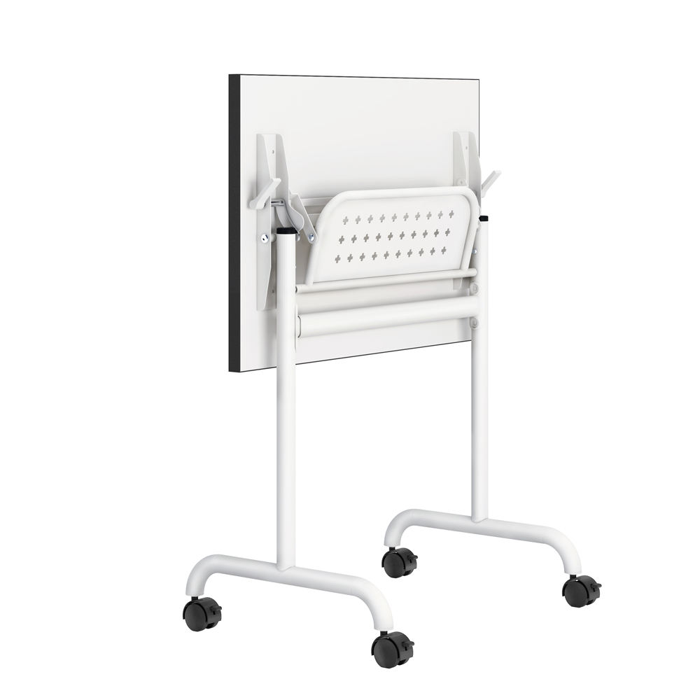 Portable small metal folding study table designs with lock casters