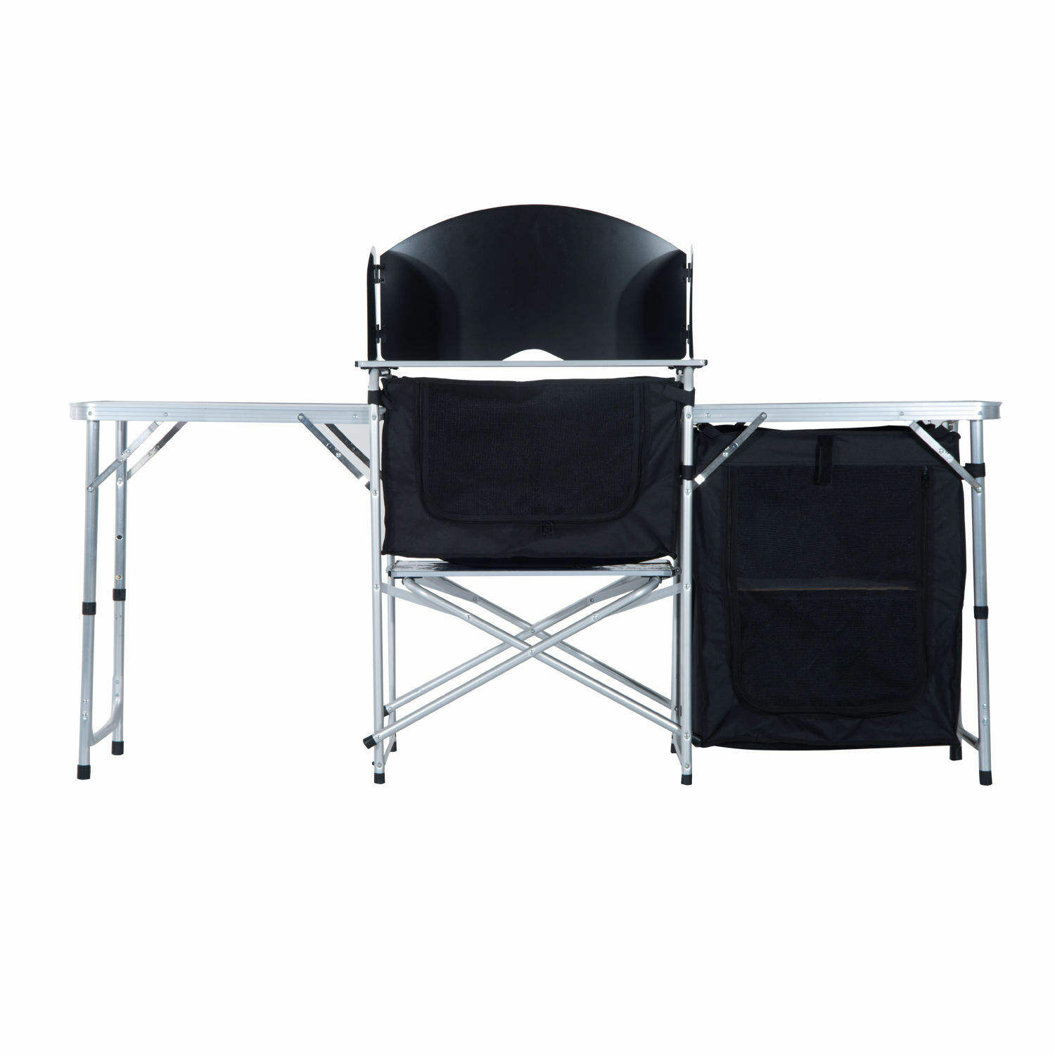 Folding Camping Kitchen Table Cupboard Cooking Aluminium Picnic Cabinet Frame