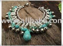 Turquoise Silver Bell Indy Bracelet