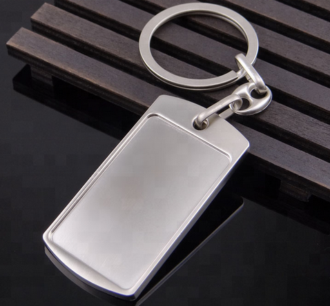 Wholesale Custom Cheap Two Sides Blank Metal Keychains For Sale
