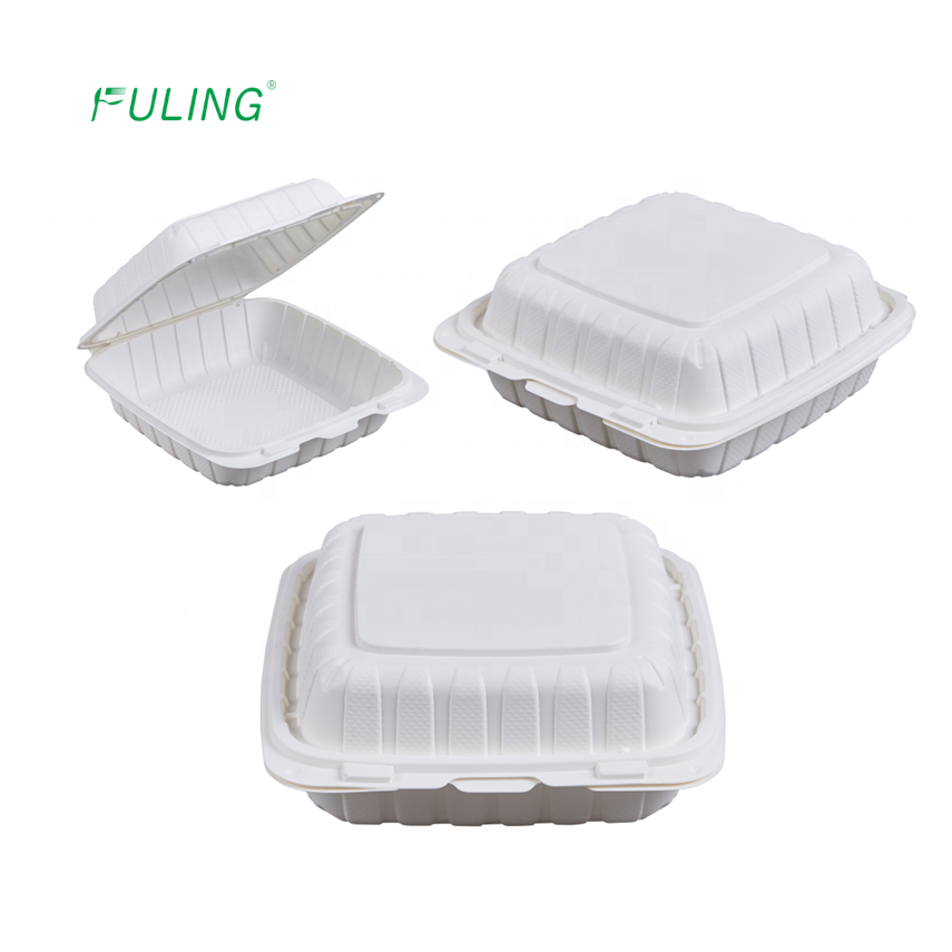 microwavable food grade restaurant disposable clamshell round to go take away lunch food meal deli plastic packaging boxes