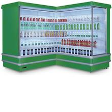 commercial supermarket refrigerator showcase customized the corner and extra length