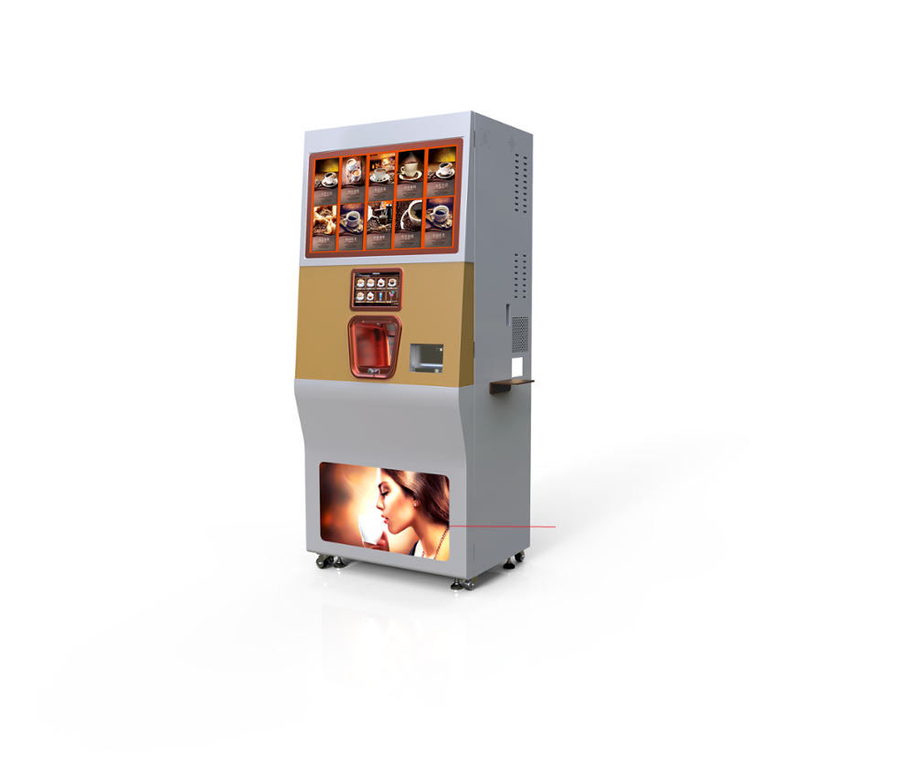 Remote Control Touch Screen Coffee Machine Vending With Android System