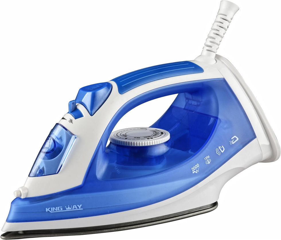 Professional blue electric full function iron steam, electric iron