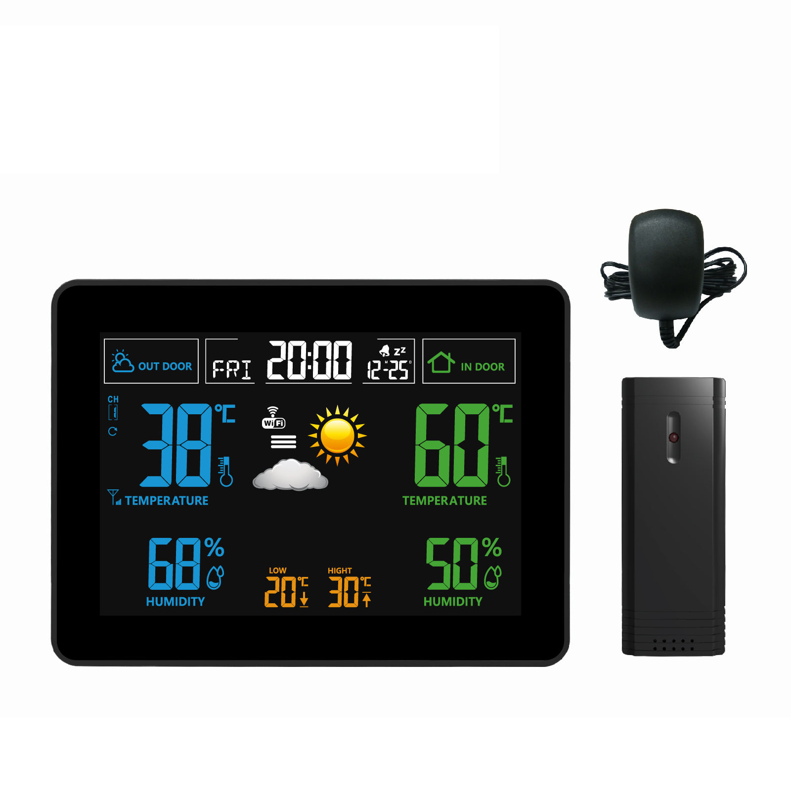 Colour WIFI LED Wireless Weather Station