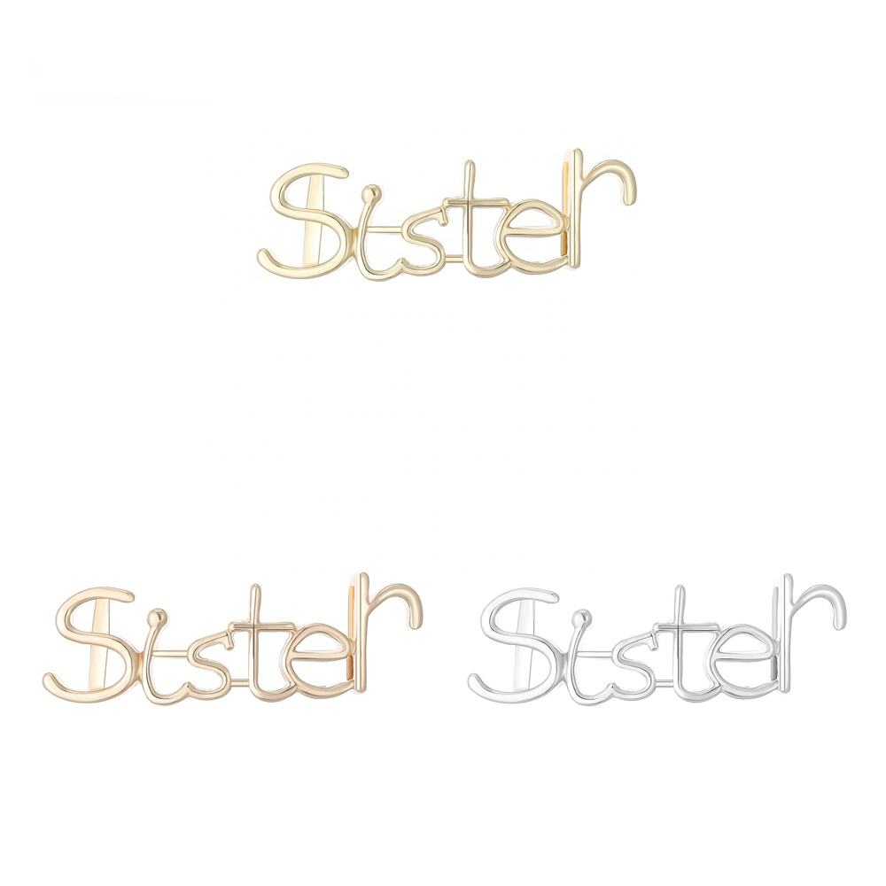 Sister Word Gold Plated Charms Metal Alloy Charm Wholesale