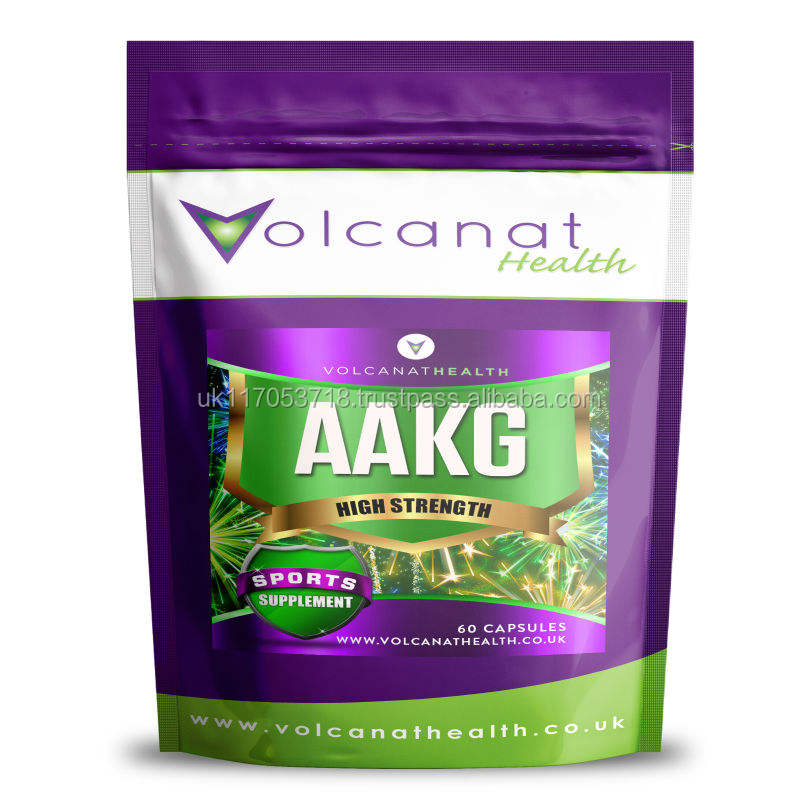AAKG 1000mg Amino Acid Sports Gym Supplement Volcanat Health Premium Foil Pack