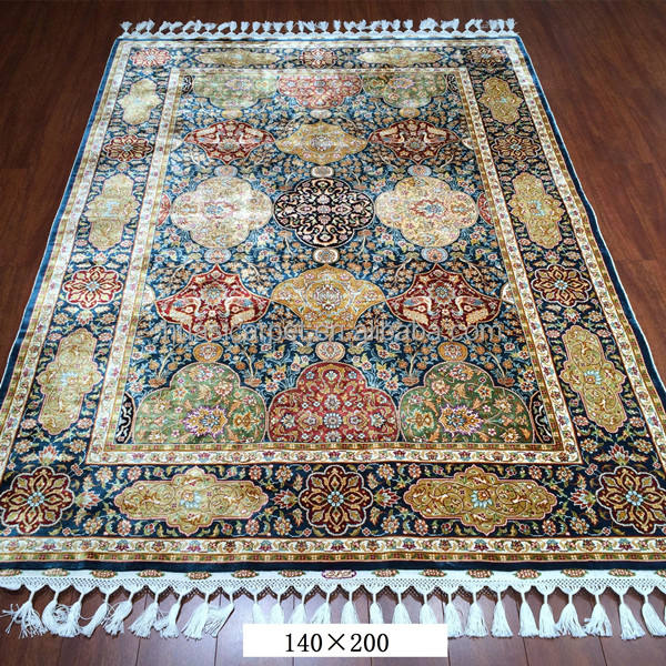 handmade turkish silk carpet 140x200cm handknotted china persian isfahan rug