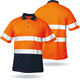 wholesale safety reflective working t shirt work wear for men fluorescent polo collar workwear