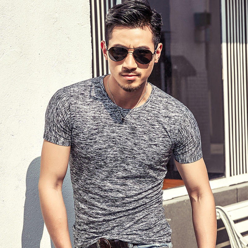 the latest man summer short sleeve pure color casual t shirts