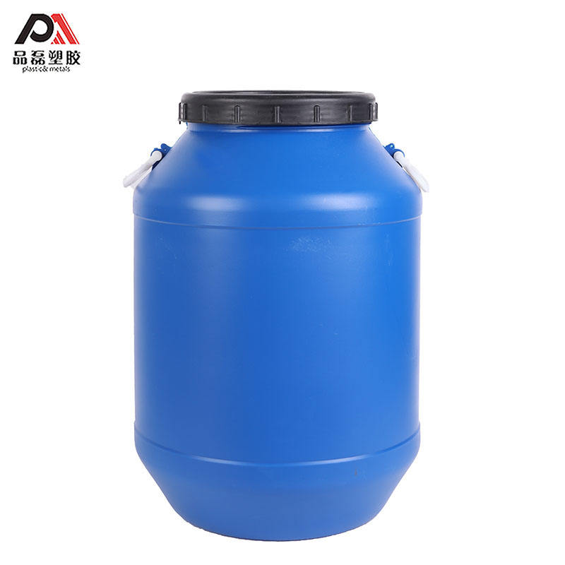 25L 50L 100 % HDPE white/ blue round plastic drum barrel