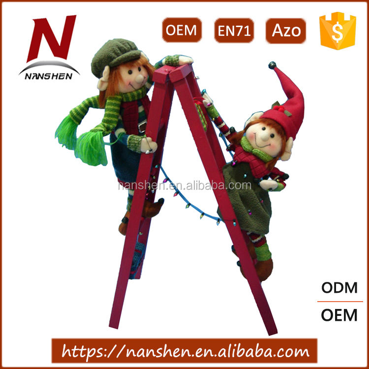 Hot Sales Christmas Tree Elf Climbing Ladder Decoration
