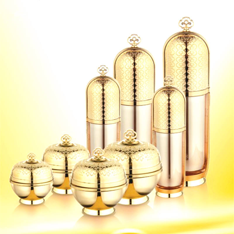 new imperial crown shape luxury cosmetic bottles acrylic bottle empty cosmetic cream jar