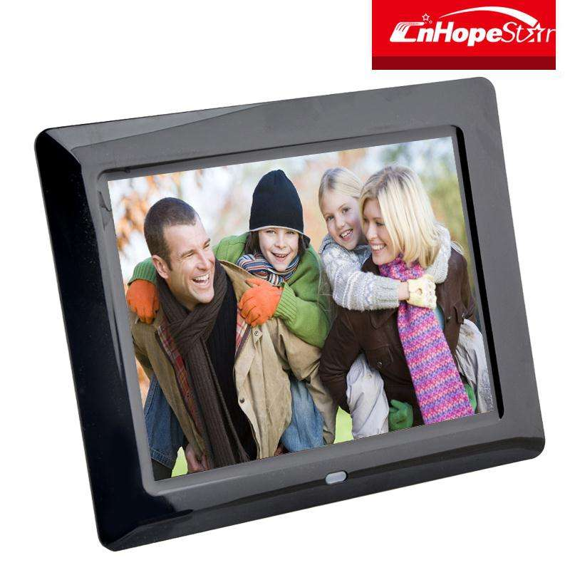 China wholesale promotion remote control 8 inch digital frame with high brightness