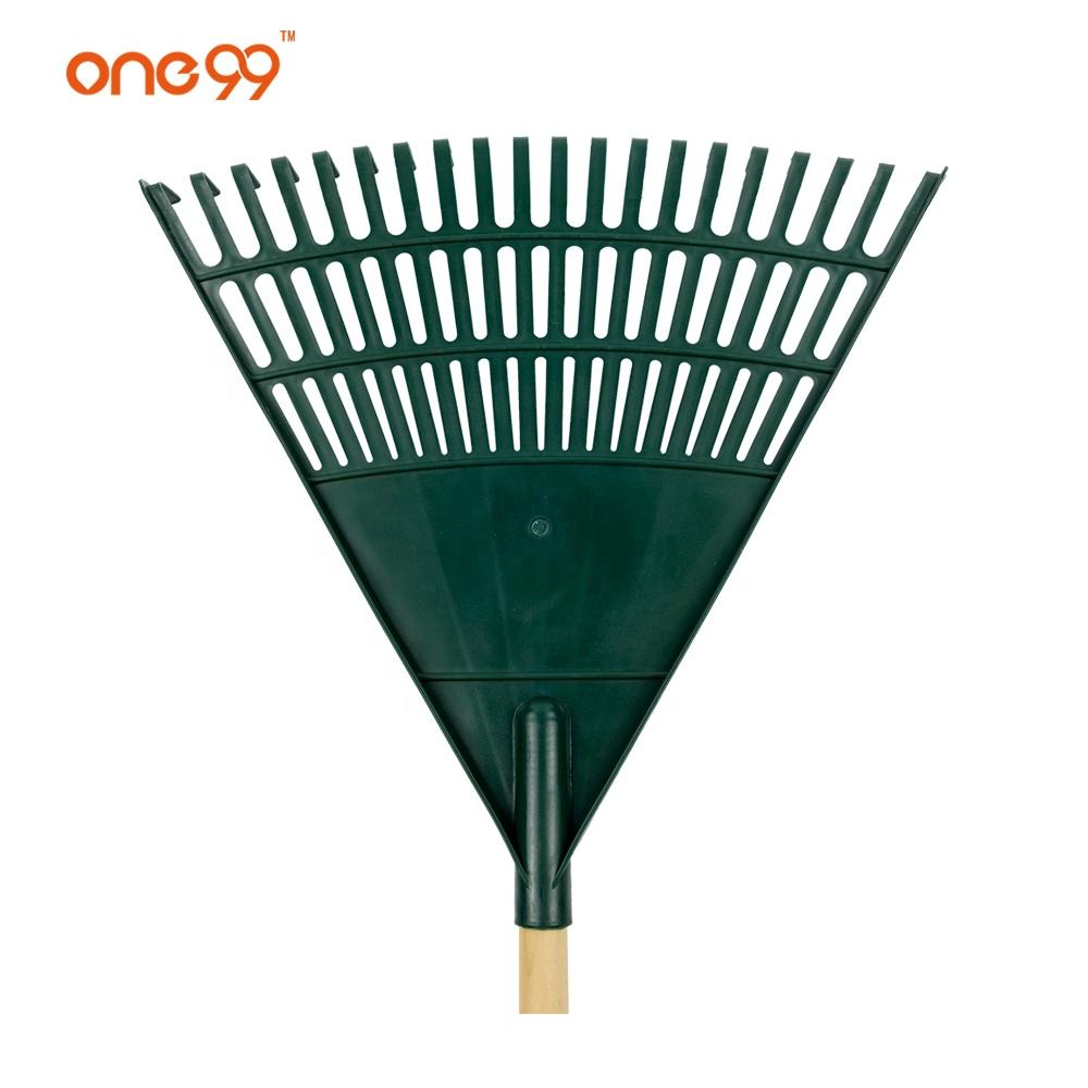 quality garden tools one99 Hot 20T green garden plastic leaf rake head