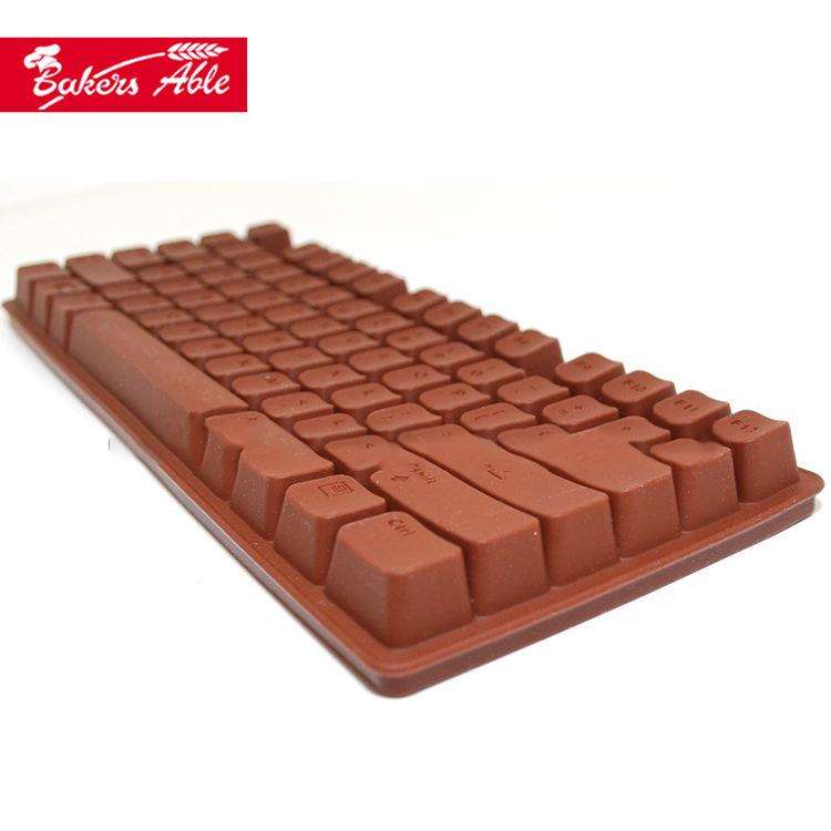 Sûr Et Comestibles FDA Certification Clavier de Chocolat En Silicone Bac À Glaçons Mini Pop Moule