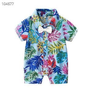 Summer baby boy baby clothes romper short sleeve jumpsuit factory wholesale Hawaii 1-3 years old