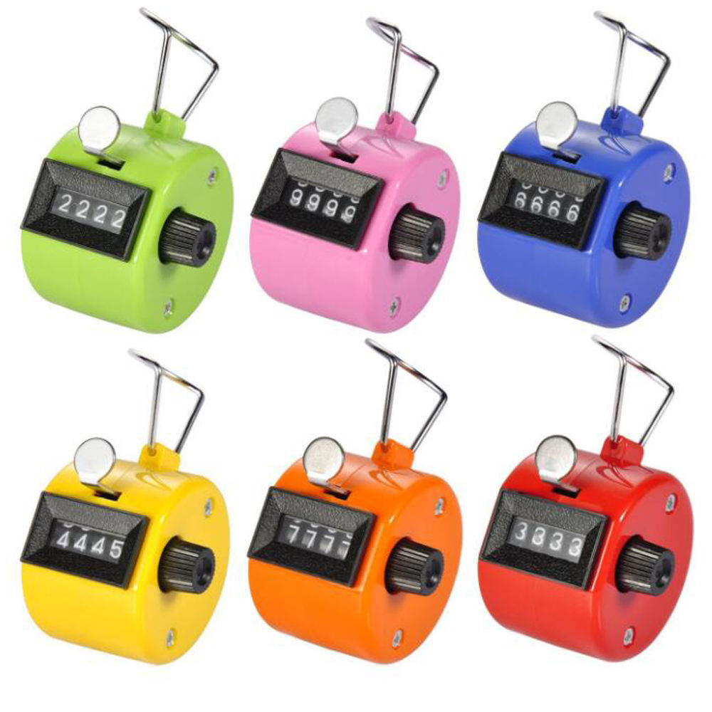 Mini Hand Tally Clicker Counter 4 Digit Number Clicker Digital Golf Clicker