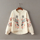 MS60132L embroidered knitting coats 2016 womens fall clothing