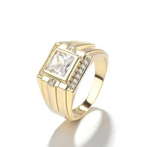The latest gold-plated ring design men's ring model