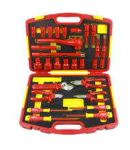 29 Pcs Insulated Pliers, Insulated Screwdriver, Insulated Socket Insulated Adjustable Wrench in Insulated Tool Set