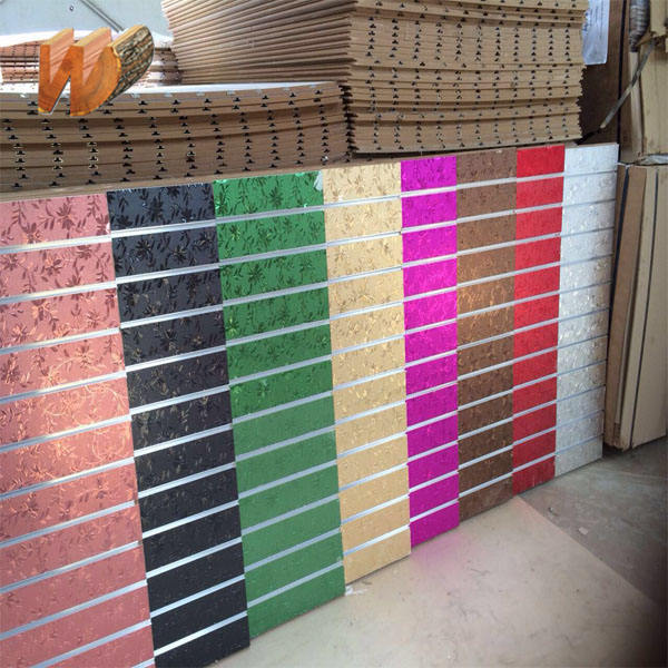 15mm/17mm/18mm PVC and UV and melamine slotwall MDF board/slot board for display wall