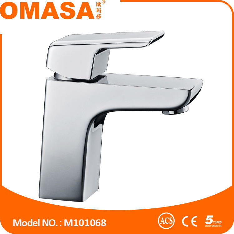Contemporary style bathroom water brass faucet with ACS