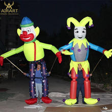 Inflatable Clown Cartoon Inflatable Stilts Costume for advertising