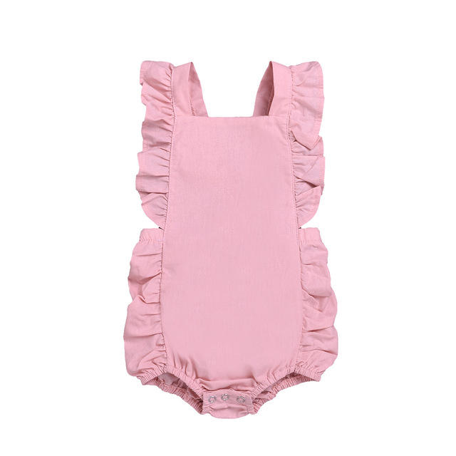 New Magenta Baby Plain Pink One Piece Bodysuit Sizes 3-6 6-9 /& 12M Blank Cotton