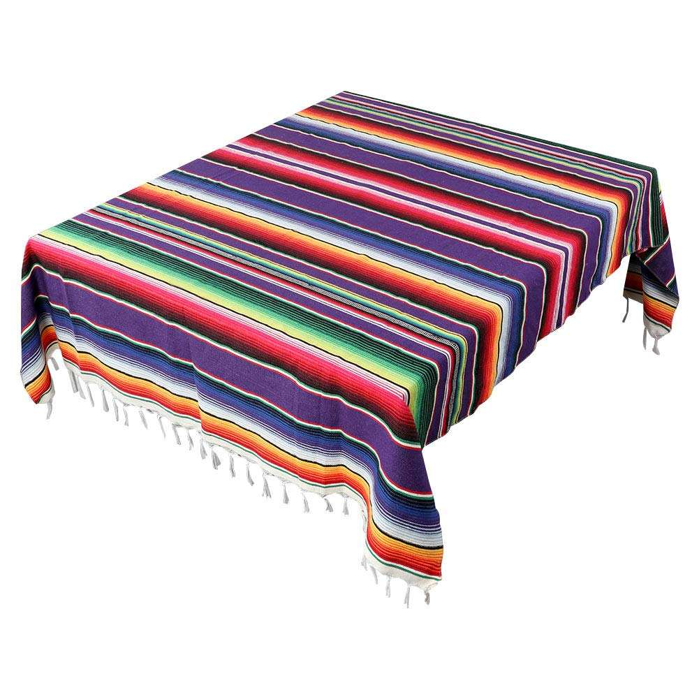 Handwoven Fiesta Tablecloth for Mexican Party